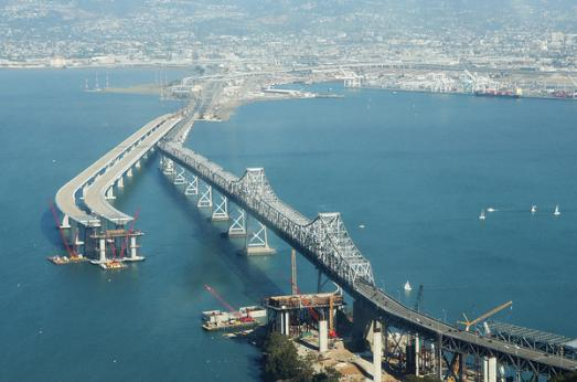 Contstruction on the new section of The Bay Bridge